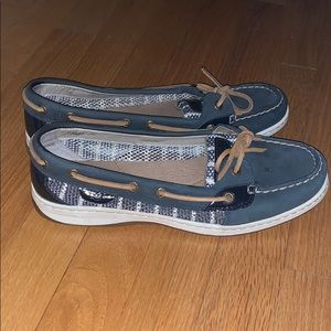 WORN ONCE Sperry Women's Striped Boat Shoes